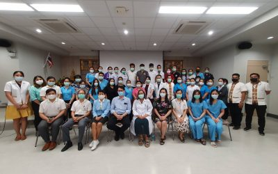 วันที่ 16-17 กุมภาพันธ์ 2564 จัดอบรมการช่วยฟื้นคืนชีพขั้นพื้นฐาน (Basic Life Support : BLS) ให้กับเจ้าหน้าที่โรงพยาบาลศูนย์บริการการแพทย์นนทบุรี