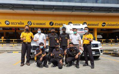 วันที่ 17 มิถุนายน 2564 โรงพยาบาลศูนย์บริการการแพทย์นนทบุรี ขอขอบคุณ บริษัทบีควิก พระราม5 สนับสนุนเปลี่ยนยางรถ Ambulance ของโรงพยาบาล จำนวน 2 คัน โดย บริษัทบีควิก พระราม5 ห่วงใยความปลอดภัย ของบุคลากรทางการแพทย์ และเจ้าหน้าที่โรงพยาบาลที่ต้องใช้รถยนต์เพื่อใช้ในการทำงานที่เกี่ยวข้อง