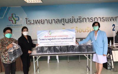 วันที่ 27 สิงหาคม 2564 'พระปลัดอำพล (พระอาจารย์อ๊อดวัดหูช้าง)' บริจาคข้าวกล่อง จำนวน 100 กล่อง ให้กับบุคลากรทางการแพทย์ และเจ้าหน้าที่โรงพยาบาลศูนย์บริการการแพทย์นนทบุรี